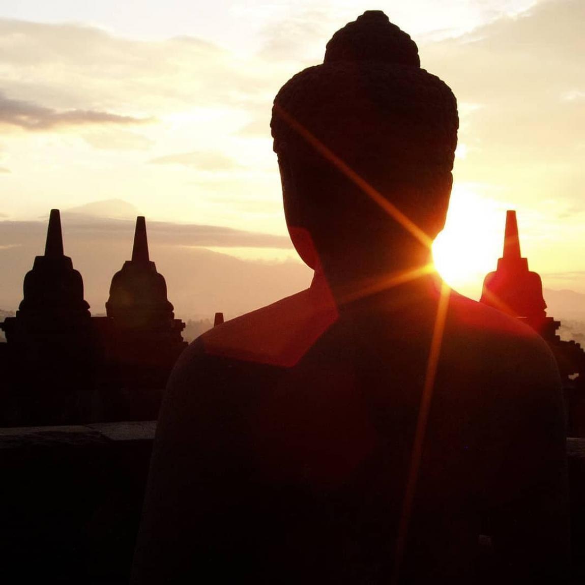 Borobudur Sunrise above the Temple